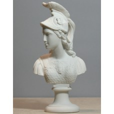 Athene Goddess of Wisdom Athena Minerva Bust Cast Marble Statue Sculpture 9.84 inches