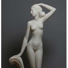Goddess APHRODITE Venus Nude Naked Female Figure Cast Marble Statue Sculpture 12 inches