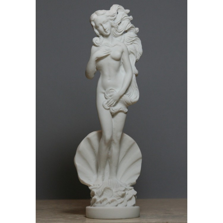 Birth of Goddess APHRODITE Venus Nude Female Cast Alabaster Statue Sculpture 8in