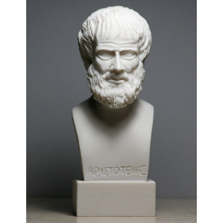 ARISTOTLE Greek Philosopher Scientist Handmade Bust Head Statue Sculpture 5.9''