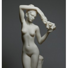 Nude Naked Female FLOWER BEARER Erotic Greek Cast Marble Statue Sculpture 11.8 inches