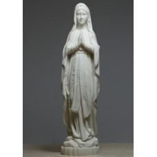 Madonna Holy Blessed Virgin Mother Mary Lady Cast Alabaster Statue Sculpture 8.66 inches