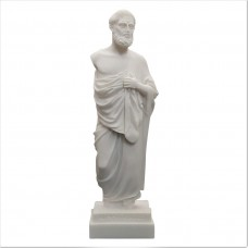 Hippocrates Father of Modern Medicine Physician Alabaster Statue Sculpture 9.45in