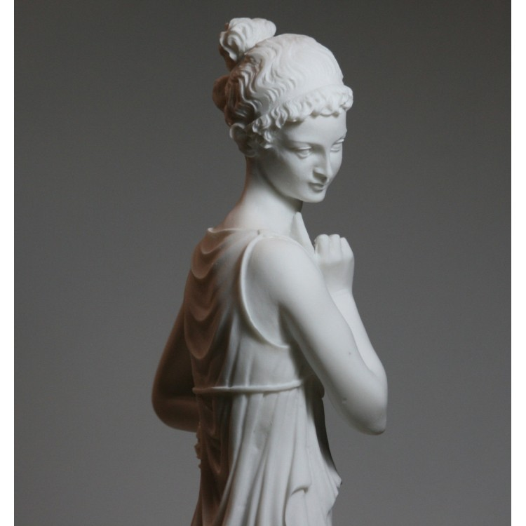 PERSEPHONE Goddess Queen of  underworld LARGE Cast Marble Sculpture Statue 16.5 inches
