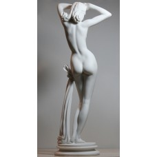LARGE Nude Naked Female Sexy Erotic Woman Cast Marble Statue Sculpture 17.2 inches