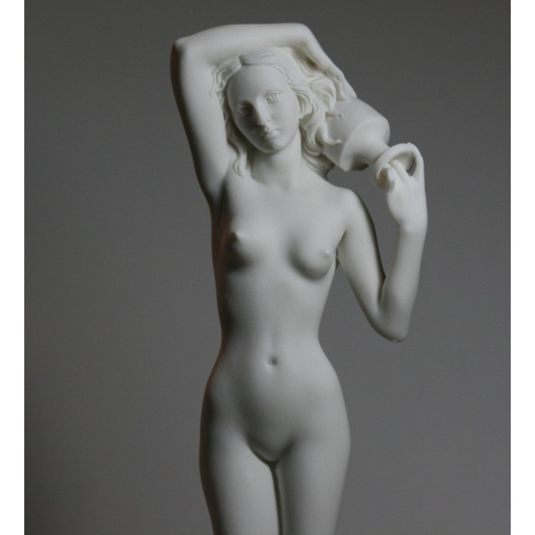 Nude Naked Female Woman Girl Cast Marble Statue Sculpture Erotic Art 15.6 inches