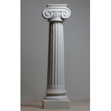 Greek Ionic order Column Pillar Pedestal Statue Cast Alabaster Sculpture Decor 11""