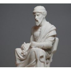 PLATO Greek Philosopher Cast Alabaster Statue Sculpture Athens Academy 6.7 inches