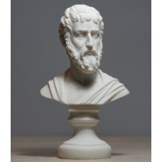Sophocles Greek Ancient Writer Playwright Cast Alabaster Bust Head Statue Sculpture 6 inches