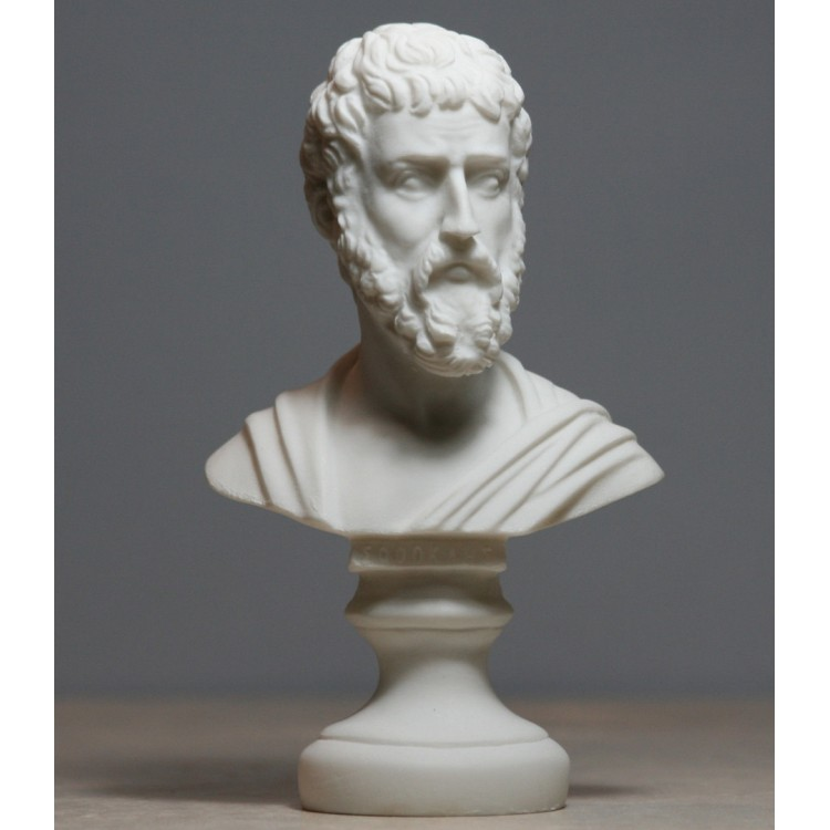 Sophocles Greek Ancient Writer Playwright Alabaster Bust