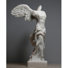 Winged Nike Victory of Samothrace Greek Goddess Cast Alabaster Statue Sculpture 7.8 inches