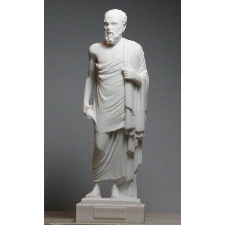 SOCRATES Greek Philosopher Cast Marble Statue Sculpture Figure 9.45 inches