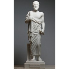 ARISTOTLE Greek Philosopher & Scientist Cast Alabaster Statue Sculpture Figure 9.6΄΄
