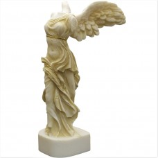 Winged Nike Victory of Samothrace Greek Goddess Alabaster Statue Sculpture 7.8 inches