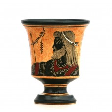 Pythagora's Cup Greek Ceramic Pottery Cup of Justice God Zeus 4.33 inches