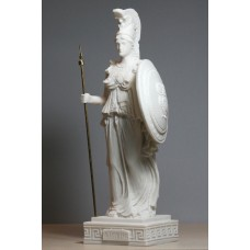 Greek Roman Goddess Athena Minerva Cast Alabaster Statue Figure Sculpture 9.65 inches