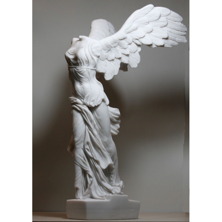 Winged Nike Victory of Samothrace Goddess Cast Marble Statue Sculpture 14.17 inches