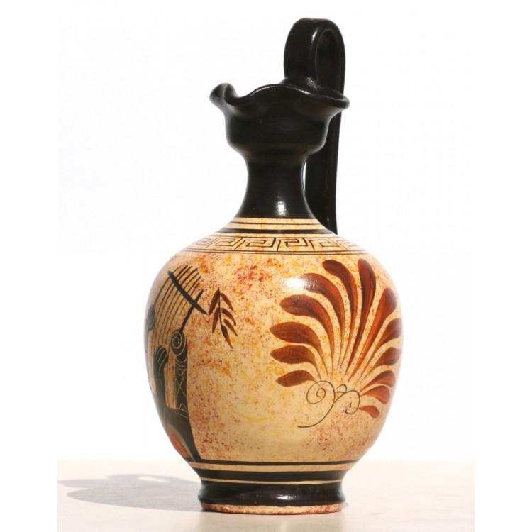 Greek Black Figure Ceramic Vase Pot Pottery Painting Greek God Apollo 6 7΄΄
