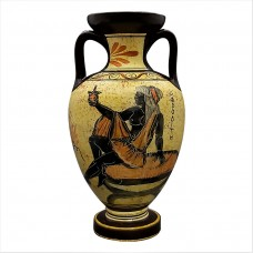 Greek Ceramic AMPHORA Jar Vase Pot Vessel Painting Goddess Aphrodite 8.66in