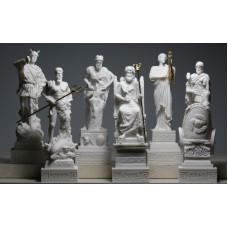 Set 6 Greek Gods Zeus Poseidon Apollo Hermes Hephaestus Ares Statue figure
