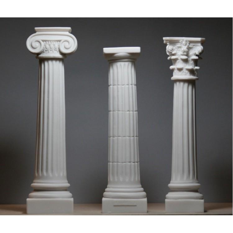 Set 3 Columns Pillars Ionic Doric Corinthian Order Architecture Decor Sculpture