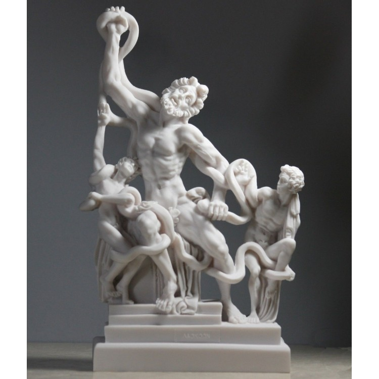 Laocoön & Sons Serpents Vatican Museum Greek Roman Cast Marble Statue Sculpture
