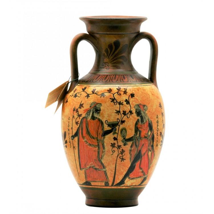 Ancient Greek Vase Amphora Goddess Athena & Aphrodite & God Dionysus 10.24 inches