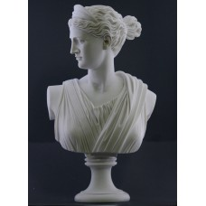 ARTEMIS DIANA Bust Head Greek Roman Goddess Statue Sculpture 19.88 inches