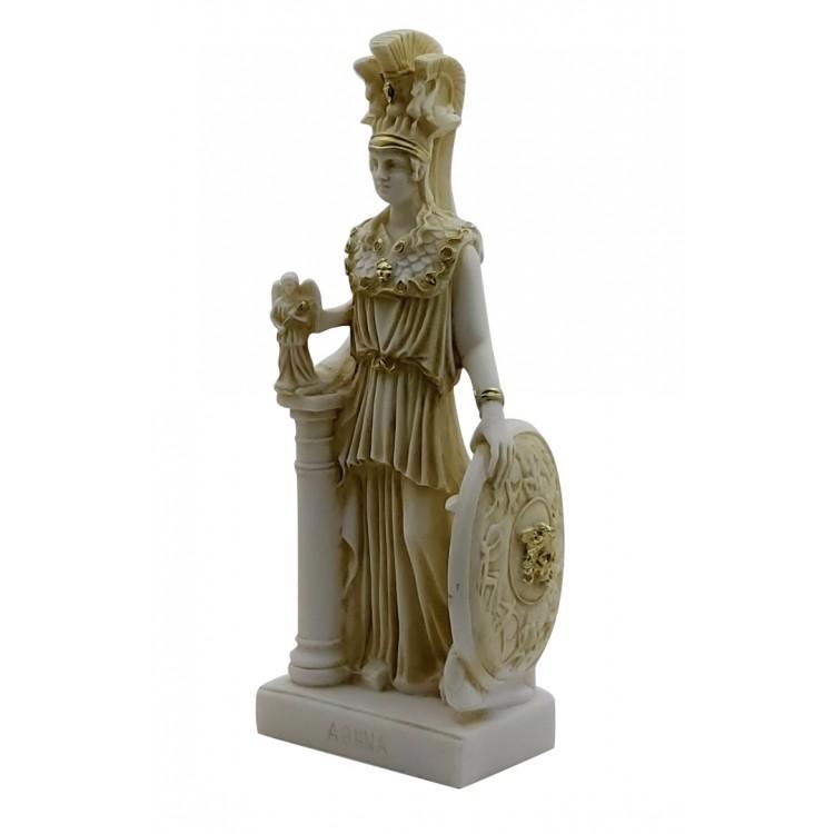 Athena Minerva Greek Goddess Cast Marble Museum Copy Statue Sculpture 10 inches