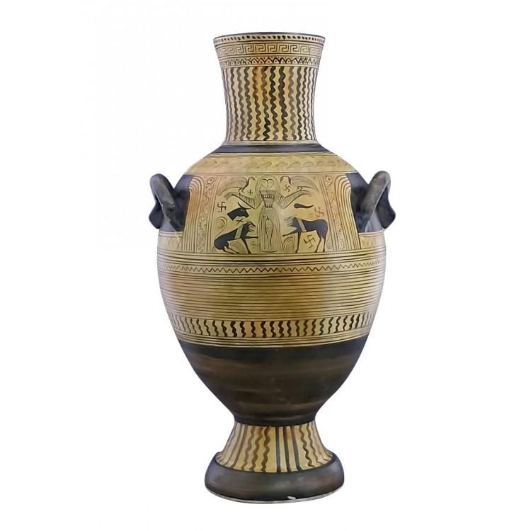Goddess of Nature Geometric Pithos Amphora Vase Ancient Greek Pottery Ceramic