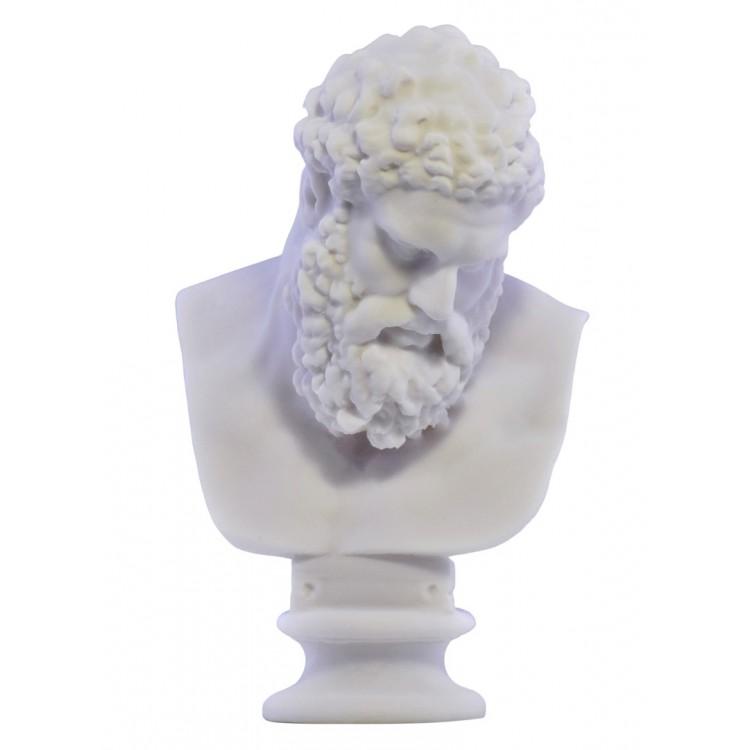 Farnese Hercules Bust head Greek Statue Sculpture Cast Marble Copy 7.8 inches