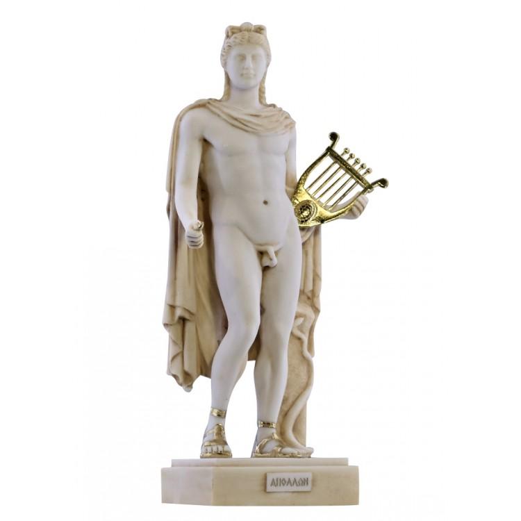 God Apollo Phoebus Athens Academy Greek Roman Statue Sculpture Cast Marble
