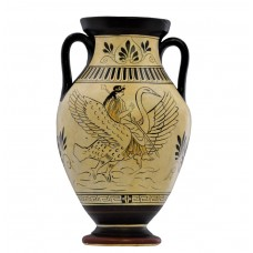Goddess Aphrodite riding Swan with Love Gods Vase Ancient Greek Pottery Ceramic