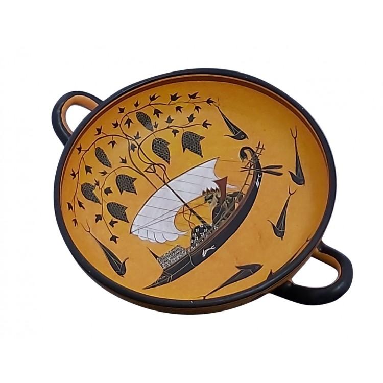 Dionysus Cup Kylix Vase Exekias Ancient Greek Pottery Ceramic Museum Copy