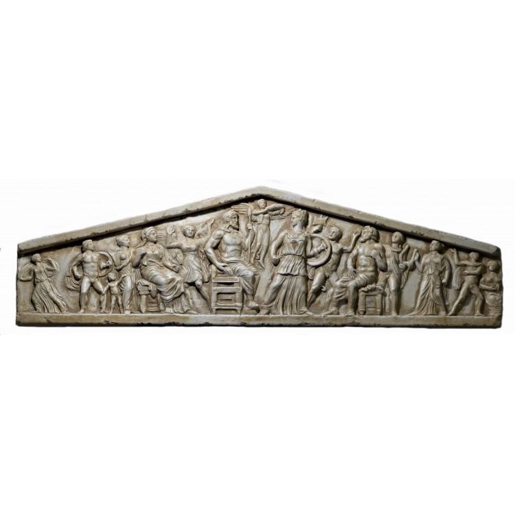 Bas relief Pediment Parthenon Acropolis Athens Cast Stone Greek Sculpture Wall Decor