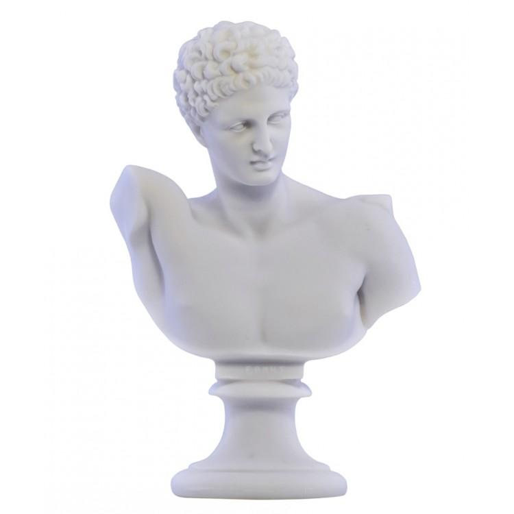 Hermes God Bust head Greek Statue Sculpture Cast Marble Copy