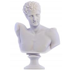 Hermes God Bust head Greek Statue Sculpture Cast Marble Museum Copy