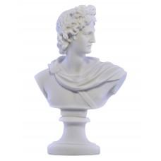 God Apollo Bust head Greek Statue Sculpture Cast Marble Copy 15cm