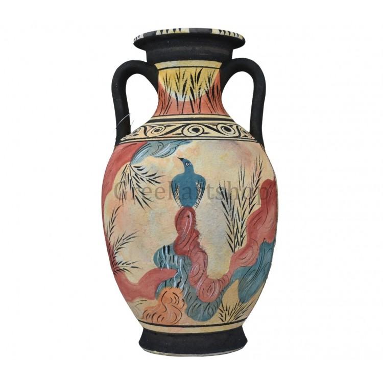 Minoan Vase Knossos blue bird fresco Ancient Greek Pottery Ceramic Knossos