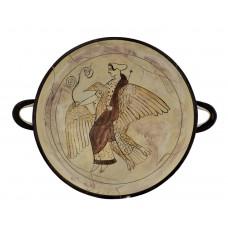 Kylix Goddess Aphrodite riding a goose Vase Ancient Greek Pottery Ceramic