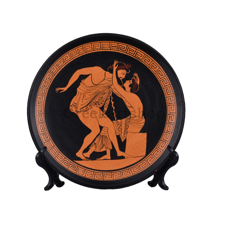 Homosexual Love Gay Sex painting ceramic plate Ancient Greece Greek Pottery