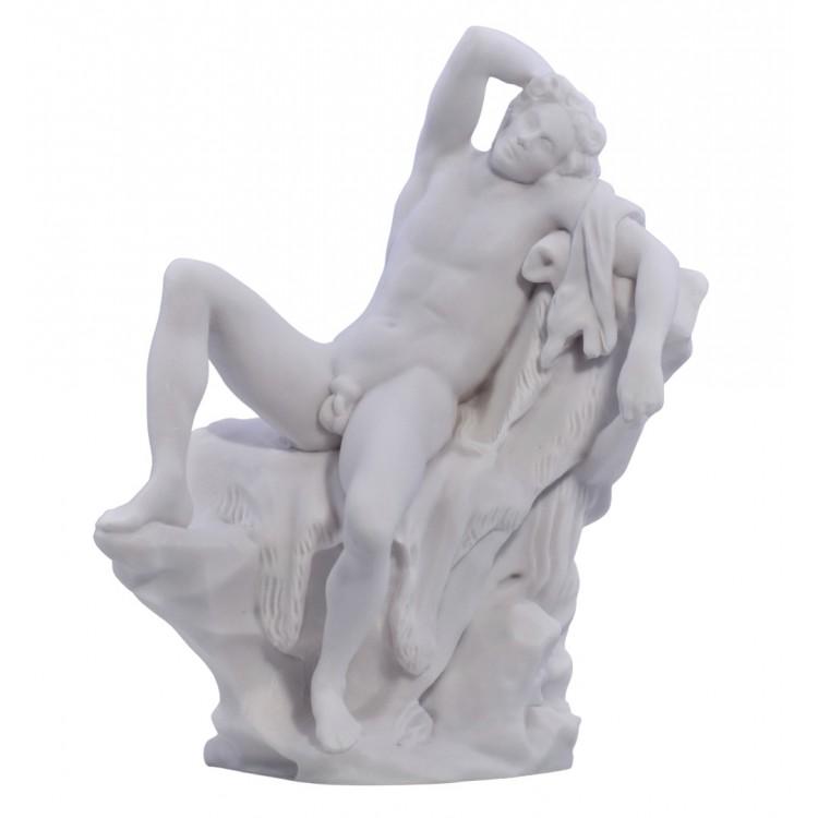 Barberini Faun Sleeping Drunken Satyr Greek Statue Sculpture Cast Marble