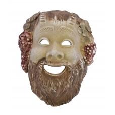 Satyr Pan Faunus Greek Roman Mask Head Sculpture Cast Stone