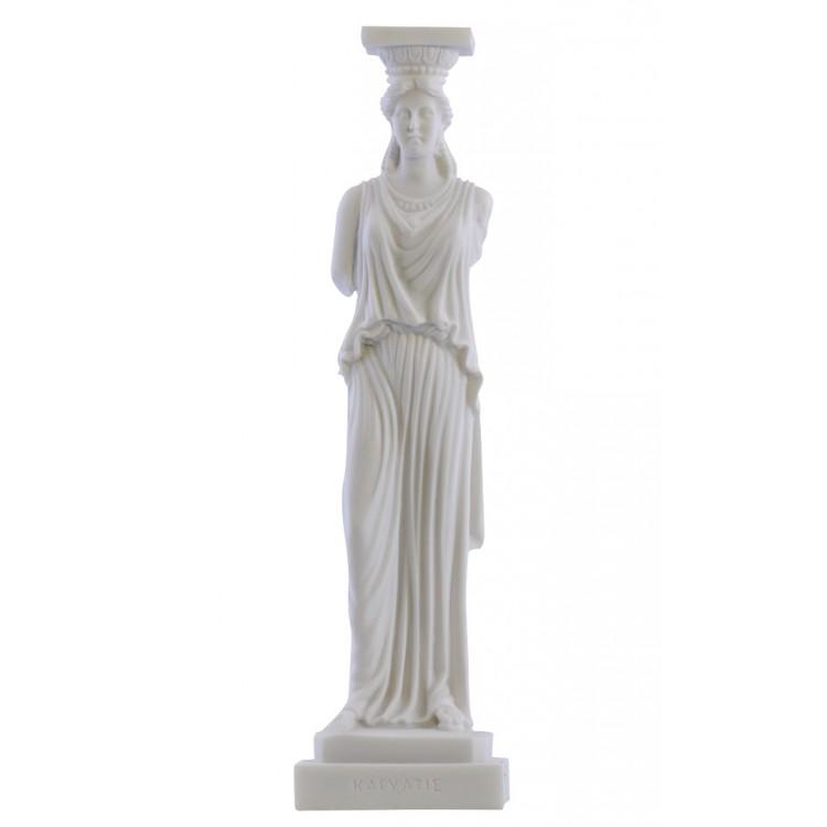 Caryatid Erechtheion Acropolis Athens Greek Statue Sculpture Cast Marble