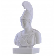 Athena Minerva Goddess Bust Head Greek Statue Sculpture Cast Marble