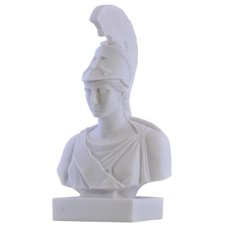 Athena Minerva Goddess Bust Head Greek Statue Sculpture Cast Marble