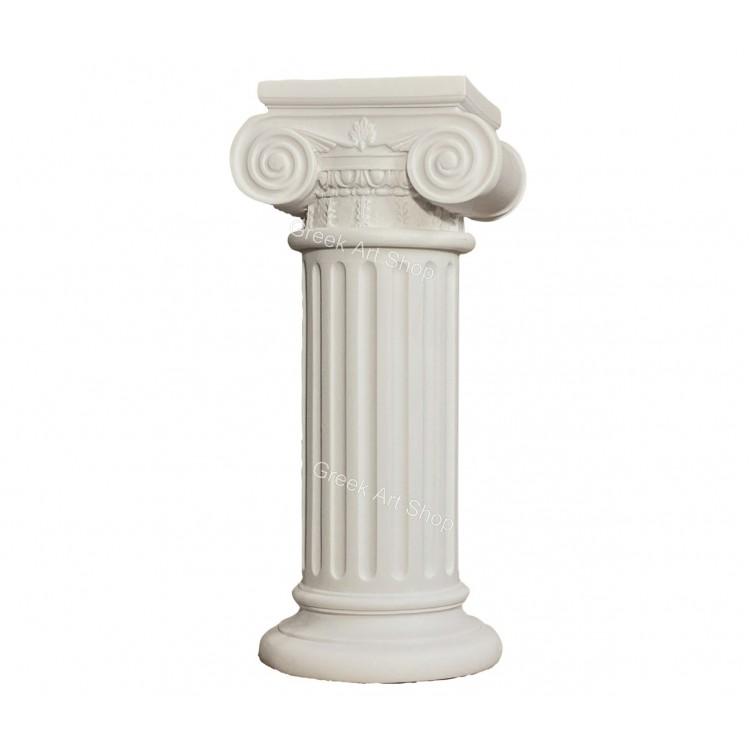 Greek Ionic order Column Pillar Pedestal Statue Handmade Sculpture Decor