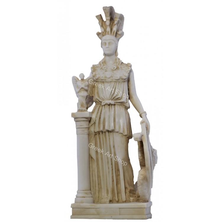 Athena Parthenos Greek Goddess Parthenon Ancient Sculpture Statue Cast Marble