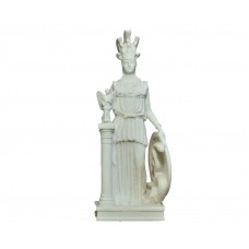 Athena Parthenos Greek Goddess Parthenon  Sculpture Statue Cast Marble