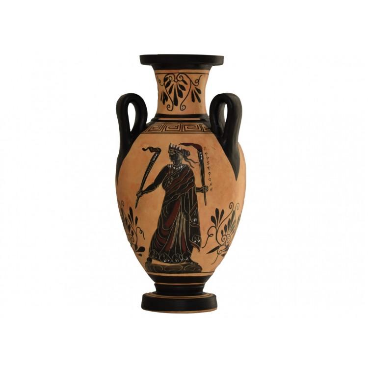 Goddess Persephone Hades Demeter Hydria  Vase Painting  Ancient Greek Pottery Ceramic